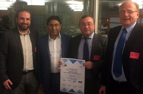 """FADA-CATEC recibe el premio especial a la innovación de los """"EU Drone Awards"""" por una aplicación para el uso de UAS en plantas aeronáuticas"""
