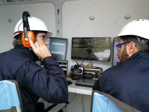Encuentro final del proyecto AEROARMS, donde nuestra aeronave AEROX realizó con éxito un ensayo de inspección por contacto