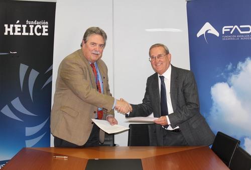 Acuerdo con el cluster aeroespacial Hélice para promover la organización de actuaciones conjuntas que contribuyan al desarrollo del sector