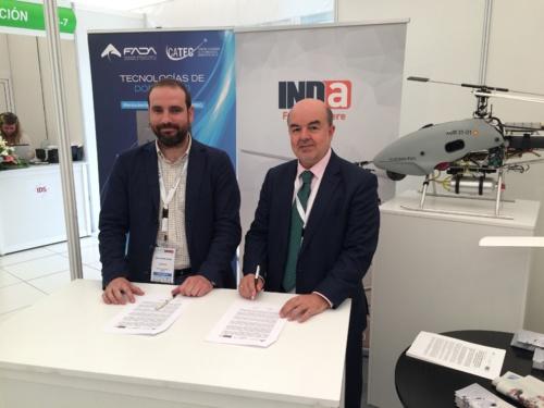 CATEC asesorará a la empresa INDA para la prestación de servicios tecnológicos en el área de aeronaves no tripuladas
