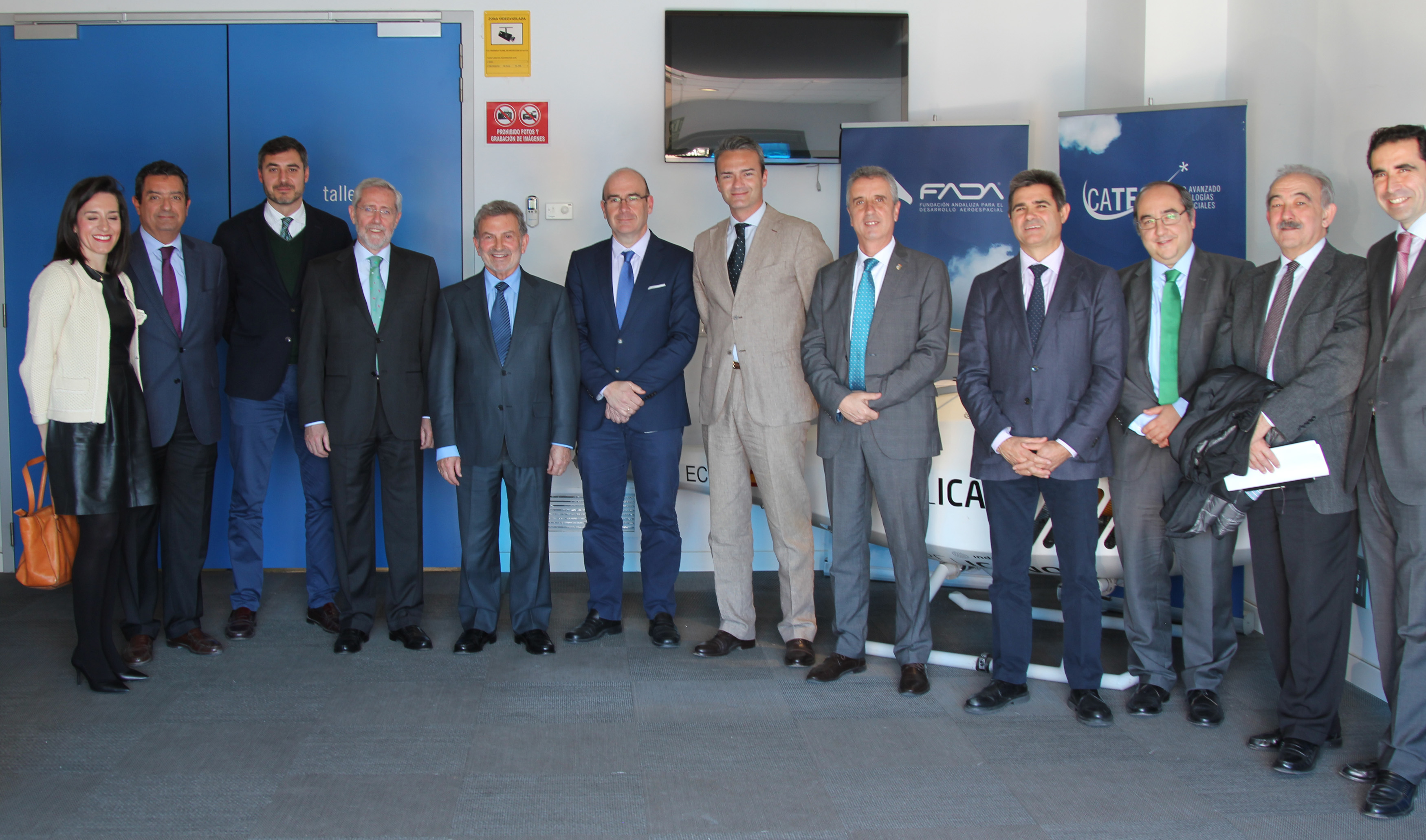 Visita del Clúster Andaluz del Frío para conocer las líneas de desarrollo tecnológico en materia de Industria 4.0 de CATEC