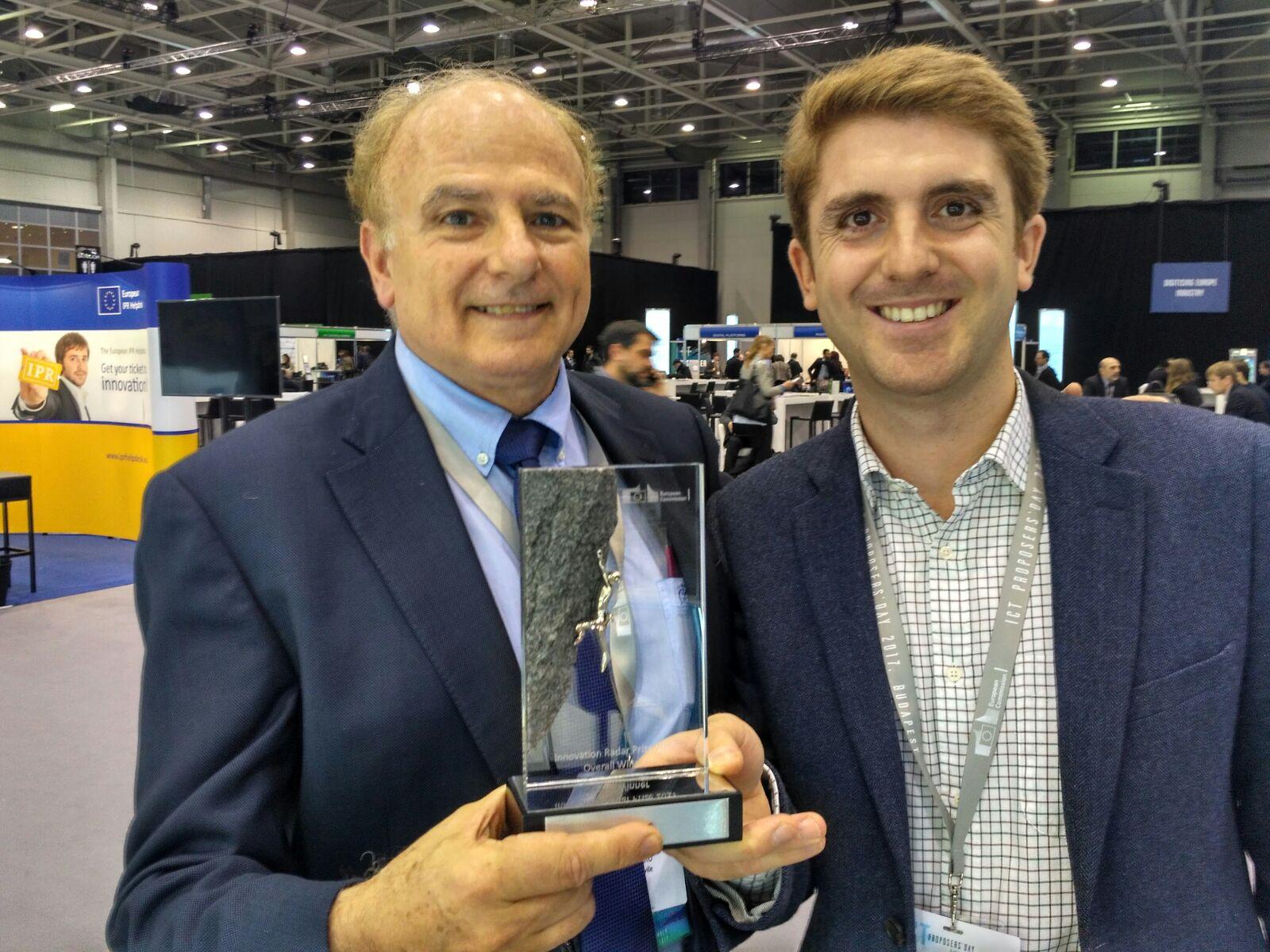 CATEC, reconocido por la Comisión Europea con el premio Innovation Radar Prize por su tecnología pionera con drones para inspecciones industriales por contacto