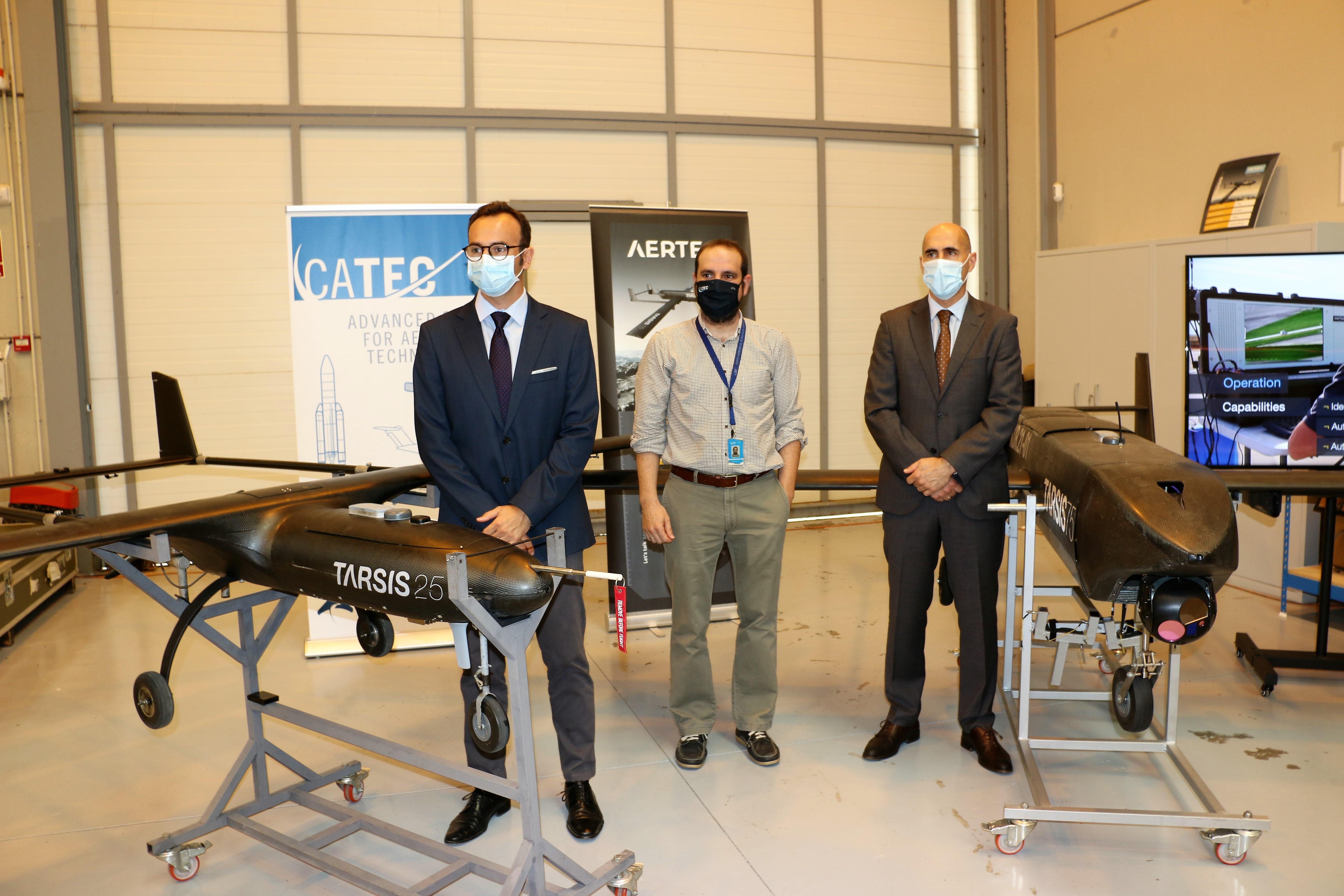 CATEC y AERTEC se alían para el impulso tecnológico del sector de los UAS en Andalucía