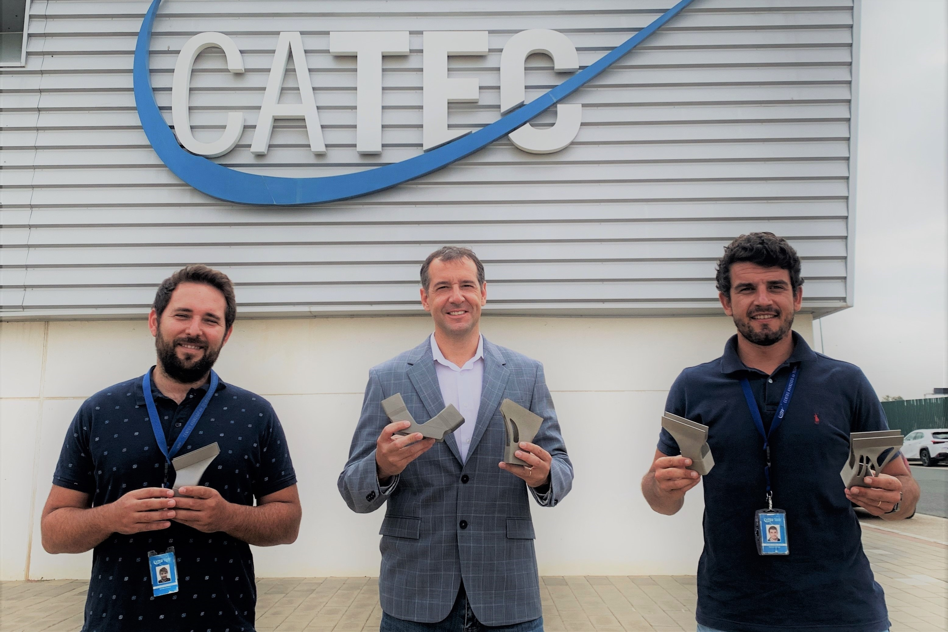 Piezas diseñadas y fabricadas por CATEC en impresión 3D viajarán al espacio en el satélite EUTELSAT QUANTUM de Airbus, preparado ya para su lanzamiento