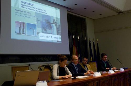 Éxito de la jornada sobre aplicaciones de UAS y robots aéreos para inspección y mantenimiento en plantas industriales