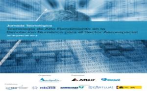 Colaboración en la celebración de una jornada sobre tecnología de simulación numérica en el sector aeroespacial