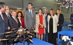 Los Reyes de España visitan CATEC y conocen las principales líneas de investigación del Centro